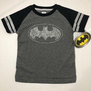 Batman Boys TShirt Bat sign Gray/Silver Brand New